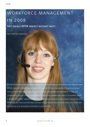 WORKFORCE MANAGEMENT IN 2008 - Callcenter Makelaar