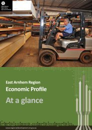 East Arnhem Economic Profile at a glance 2013 - Department of ...