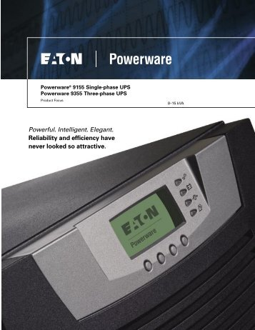 Powerful. Intelligent. Elegant. Reliability and efficiency have never ...