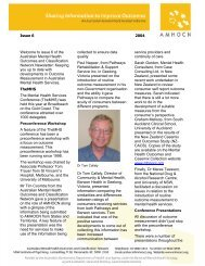 AMHOCN Newsletter Vol 1 Issue 6 - Australian Mental Health ...