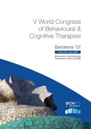 V World Congress of Behavioural & Cognitive Therapies