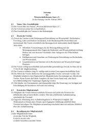 Satzung des Wissenschaftsforums-Saar e.V. (in der Fassung vom 06 ...