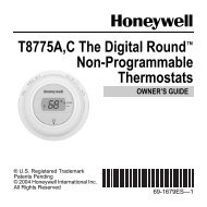 T8775A,C The Digital Round™ Non-Programmable Thermostats