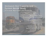 Statewide Rail Capacity and System Needs Study - Washington ...