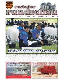 rasteder rundschau, Ausgabe Juni 2013