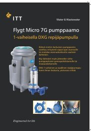 Flygt Micro 7G pumppaamo - Water Solutions