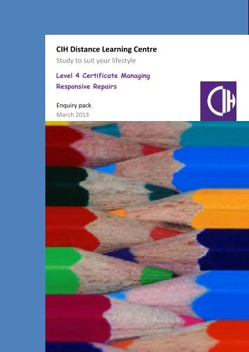 CIH Distance Learning Centre - Chartered Institute of Housing
