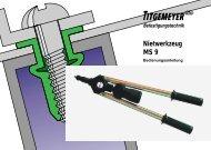 Nietwerkzeug MS 9 - Titgemeyer