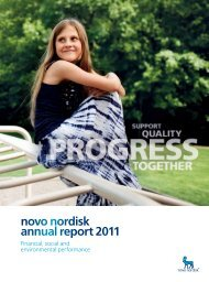 Financial, social and environmental performance - Novo Nordisk ...