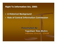 Right to Information an overview - UP Academy
