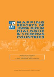 Mapping Reports of Jewish Muslim Dialogue - Media Diversity Institute