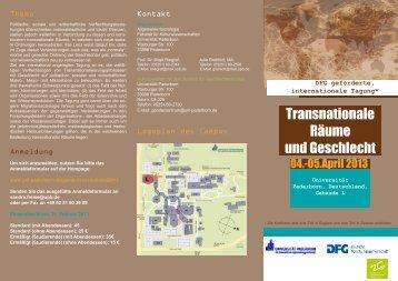 Transnationale Räume und Geschlecht - Sektion Wissenssoziologie ...
