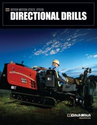 DIRECTIONAL DRILLS - Ditch Witch