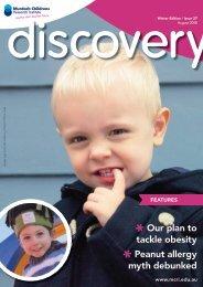 Issue 27, August 2008 - Murdoch Childrens Research Institute