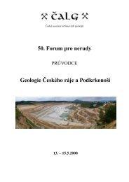 Předběžný program: - Česká geologická služba
