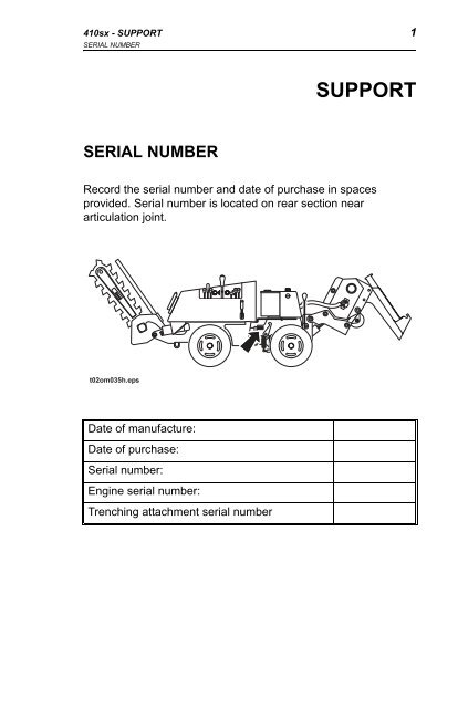 Manual - Ditch Witch on