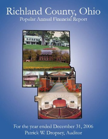 About the Cover - Richland County Auditor