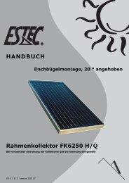 Montageanleitung Prestige Dachbügel 20 - Gerenda Solar