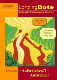 Lortzing-Bote Ausgabe - Ev. Kindergarten Dankersen