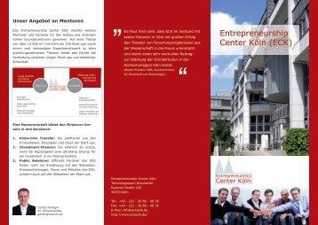 Page 1 Unser Angebot an Mentoren Das Entrepreneurship Center ...
