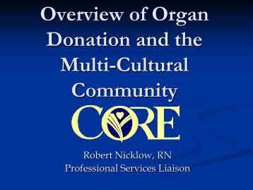 an overview of organ donation Top of the page living organ donation topic overview introduction more than 100,000 people in the united states are waiting for an organ to become available for a transplant that can save their lives.