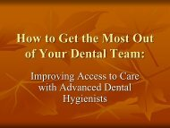 Public Health Dental Hygiene Practitioners (PHDHP) - Pennsylvania ...