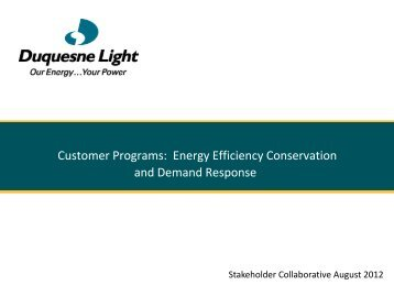 Presentation title - Duquesne Light
