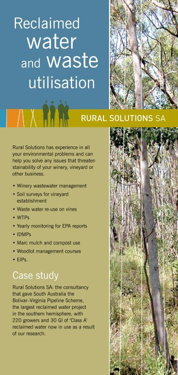 Reclaimed Water Waste - Rural Solutions SA