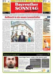Aufbruch in ein neues Lesezeitalter - Bayreuther Sonntag
