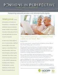 Vol 1, Issue 3 - Hospitals of Ontario Pension Plan