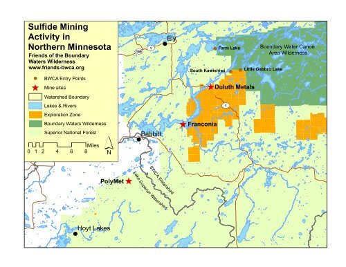 Map And Fact Sheet Friends Of The Boundary Waters Wilderness
