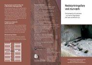 Nedstyrtningsfare ved murværk - Statens Byggeforskningsinstitut