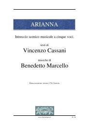 ARIANNA Vincenzo Cassani Benedetto Marcello - Fulmini e Saette