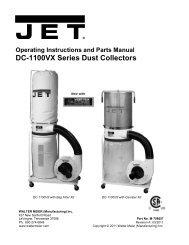 DC-1100VX Series Dust Collectors - Rockler.com