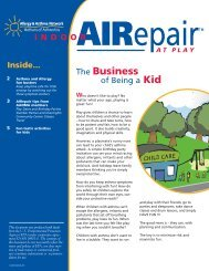 Indoor AIRepair at Play newsletter - Allergy & Asthma Network