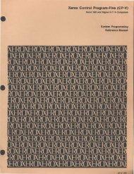 Xerox Control Program-Five (CP-V) - Bitsavers