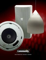Distributed Design Series - Community Professional Loudspeakers