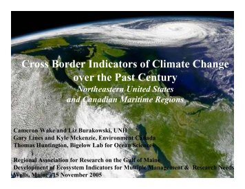 Cross Border Indicators of Climate Change over the Past ... - rargom