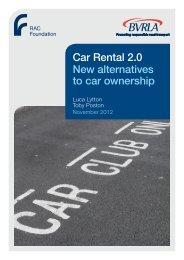 Car Rental 2.0 - Lytton & Poston - RAC Foundation