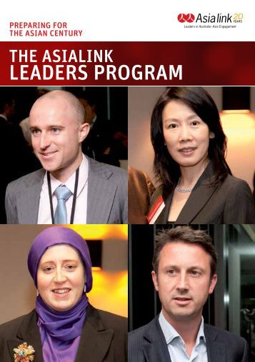 leAders ProgrAm - Asialink - University of Melbourne