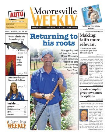 Returning to his roots - Carolina Weekly Newspapers