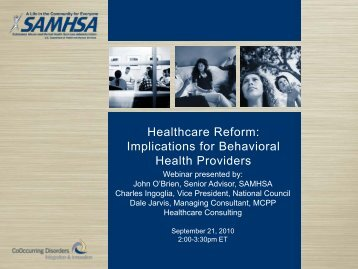 Healthcare Reform: Implications for Behavioral Health Providers