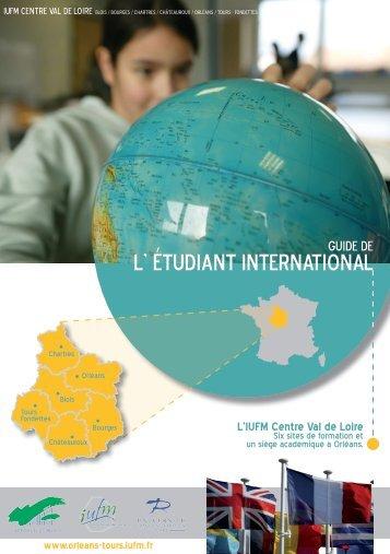 l' étudiant international - IUFM - Portail des IUFM