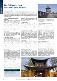 Von Peking durch das alte China nach Moskau