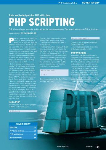 PHP SCRIPTING - Linux Magazine