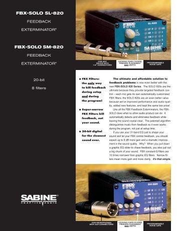 FBX-SOLO 820 Series