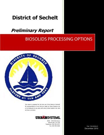 District of Sechelt Preliminary Report
