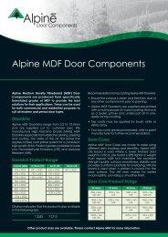 Door Component - Alpine MDF
