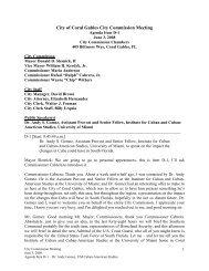 CCMtg June 3 2008 agenda item D-1 - City of Coral Gables
