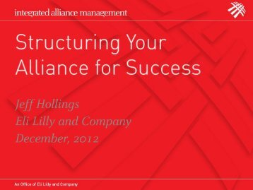 Jeff Hollings Eli Lilly and Company December, 2012 - Pharma